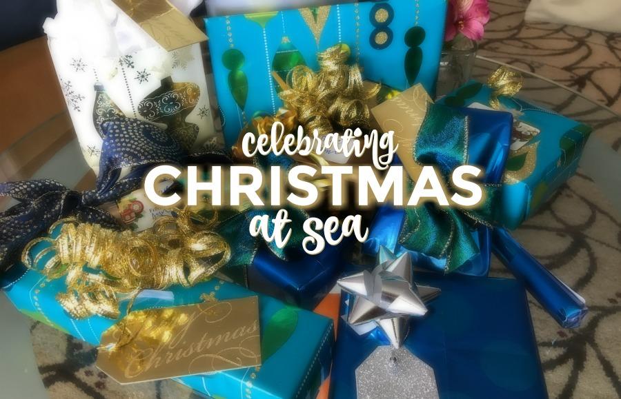 Celebrating Christmas at sea