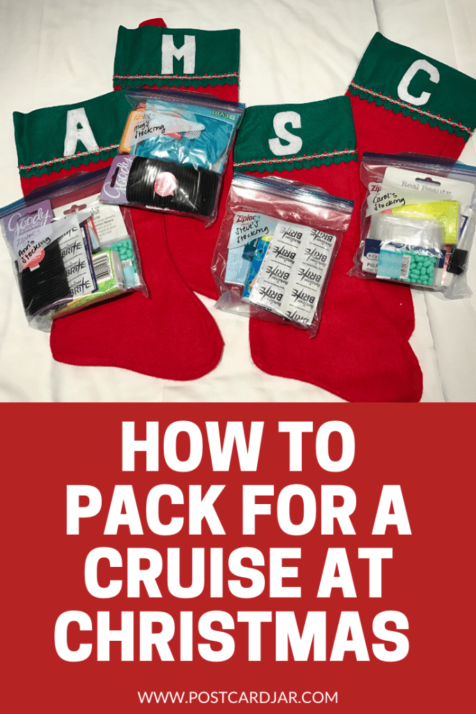 packing for a cruise at Christmas