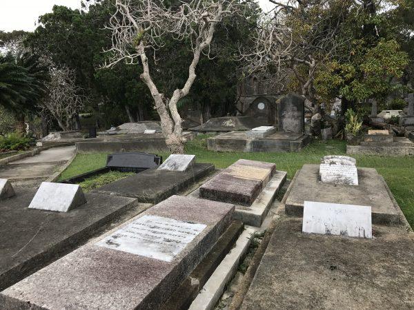 The cemetery at St. John's Parish.