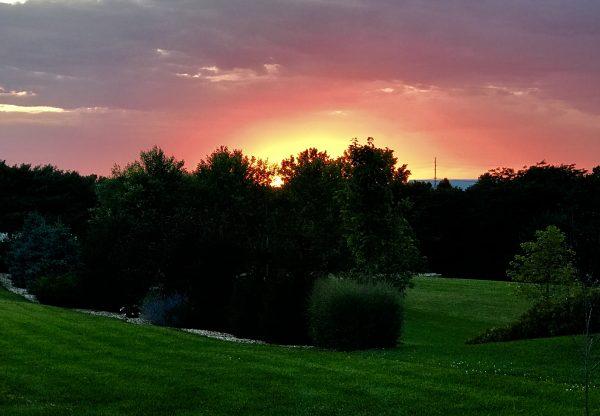 Sunset in Crete, Nebraska