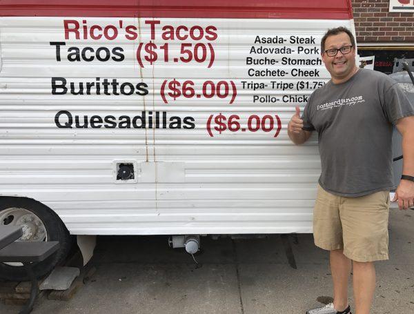 Rico's Tacos truck, Crete, Nebraska