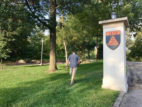 Walking at Doane University, Crete, Nebraska