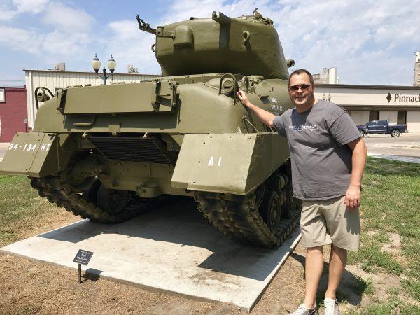 Tank in City Park, Crete, Nebraska