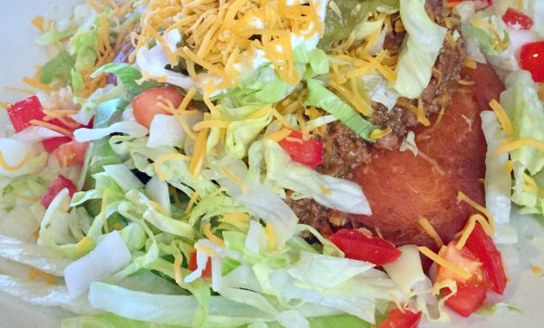 The only time we've had Indian Tacos was a few summers ago at the High Plains Homestead near Crawford, Nebraska.