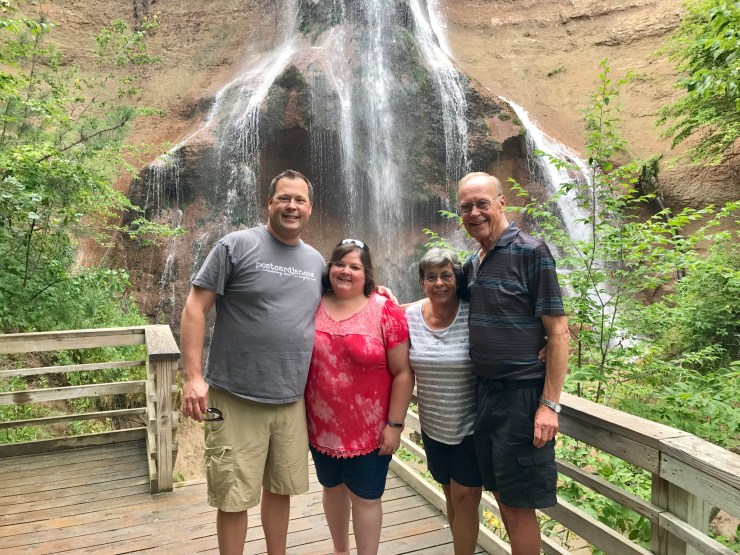 We had a wonderful trip around Nebraska with Steve's mom and dad, including stops at Smith Falls near Valentine.