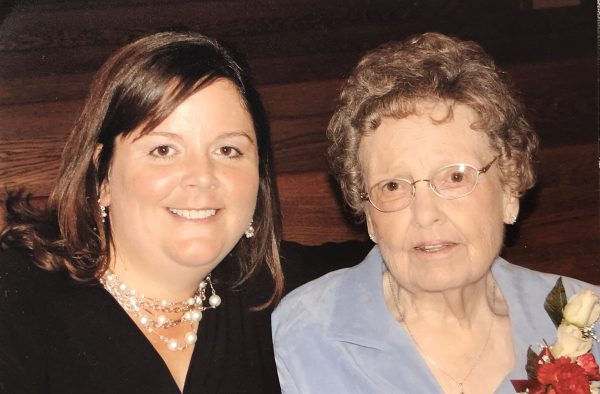 Me and my Grandma Shrewsbury at a wedding many years ago.