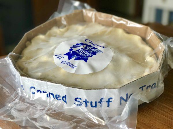 A frozen Village Pie Maker Pie. No canned stuff in this masterpiece.
