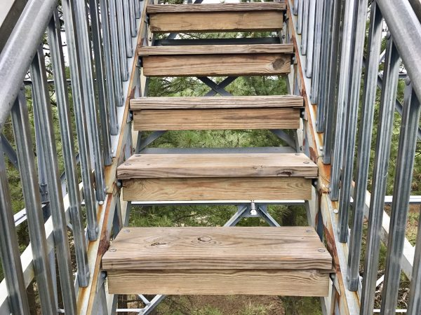 Stairs of Scott Lookout Tower, Nebraska National Forest