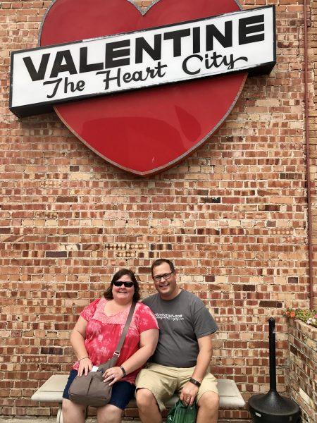 Valentine, Nebraska heart sign