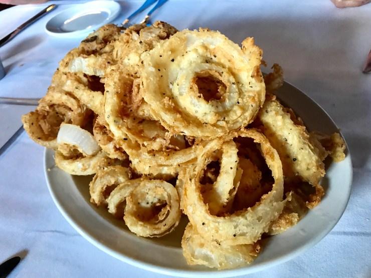 The onion rings at Black Cow Fat Pig in Norfolk, Nebraska.