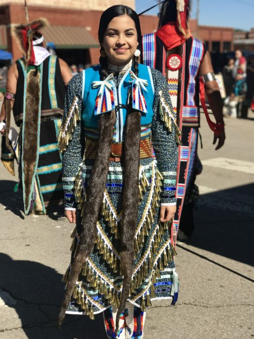 One of the beautiful outfits worn by a dancer at the competition.