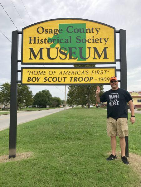 Osage County Historical Society sign, Pawhuska, Oklahoma