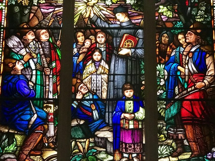 Immaculate Conception Church stained glass, Pawhuska, Oklahoma