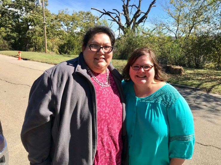 Ann with Margie Williams, Pawhuska Oklahoma