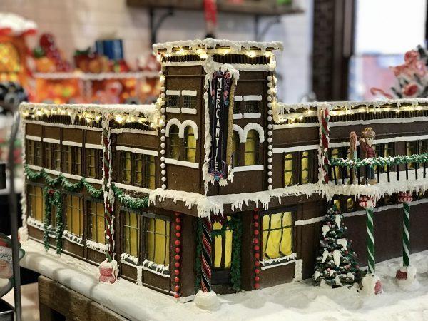 Pioneer Woman Mercantile gingerbread model, Pawhuska, Oklahoma