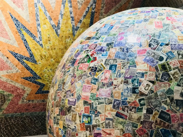 Largest ball of stamps, Boys' Town, Omaha, Nebraska