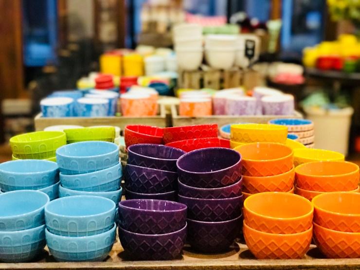 Tiny bowls at The Pioneer Woman Mercantile in Pawhuska, Oklahoma.