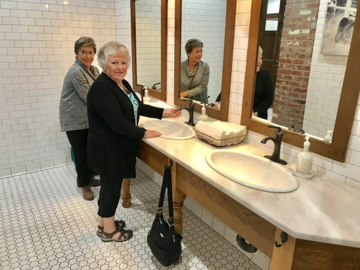 The beautiful bathrooms at The Pioneer Woman Mercantile in Pawhuska, Oklahoma.