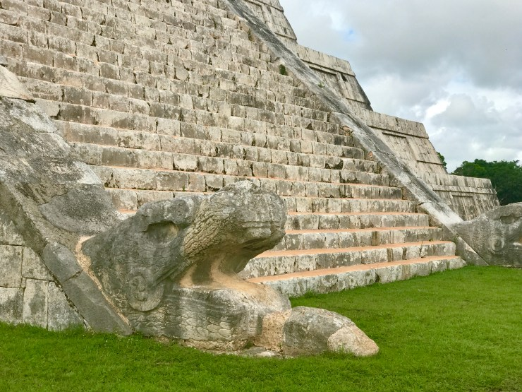 Chichén Itzá, base of main pyramid, Mexico