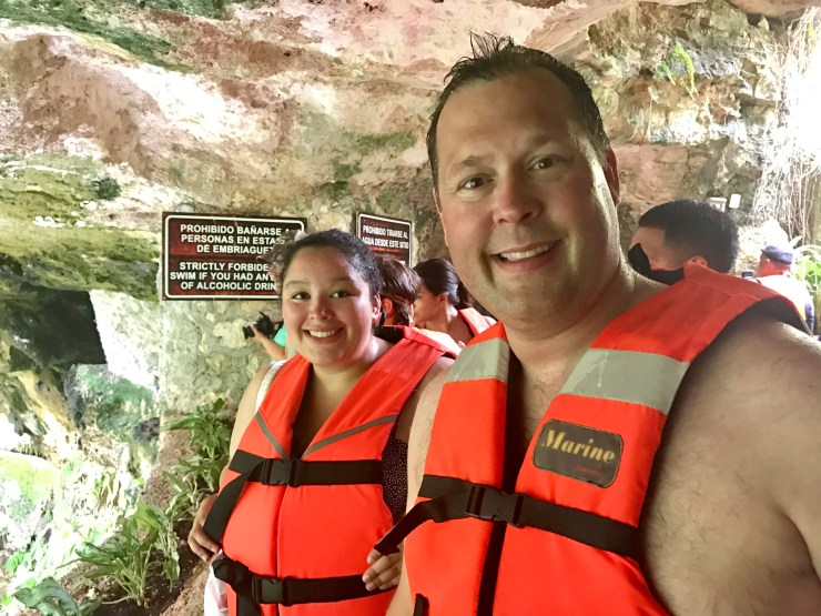 Meghan and Steve ready to swim in the cenote.