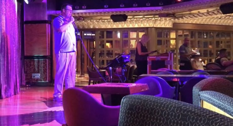 "Steve sang Garth Brooks' ""Friends in Low Places"" during Karoake one night on the Carnival Valor."