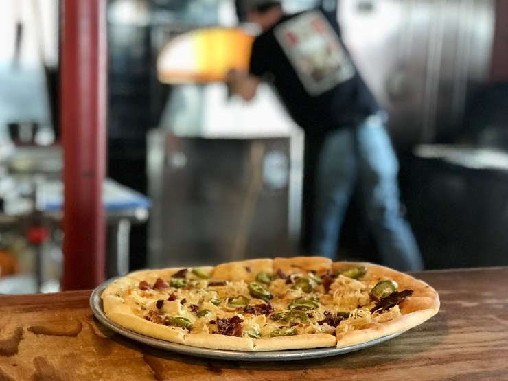 Pizza at Thunderhead Brewing in Kearney, Nebraska.