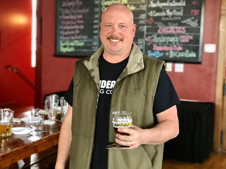 Trevor Schaben at Thunderhead Brewery in Kearney, Nebraska.