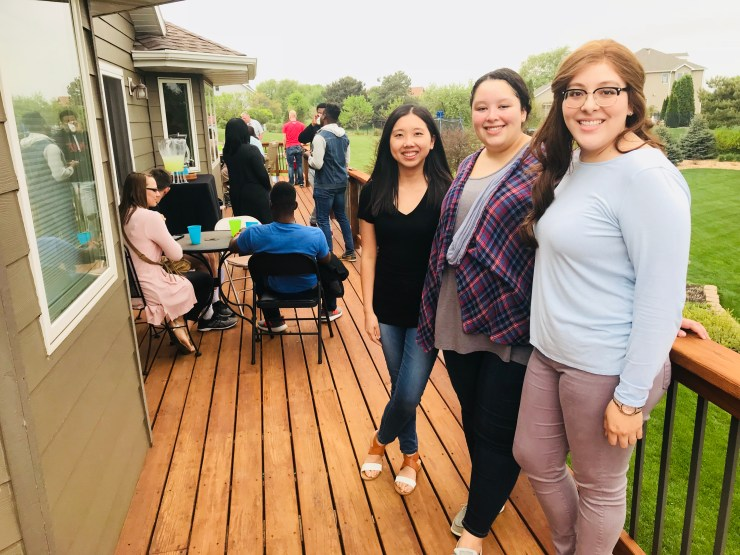 We had a going away party for Meghan and many of her friends, including Amy and Dulce stopped by.