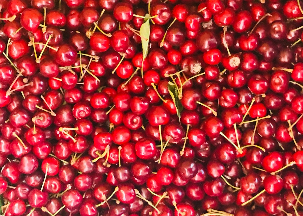 Fresh cherries used in making delicious Tuscan food