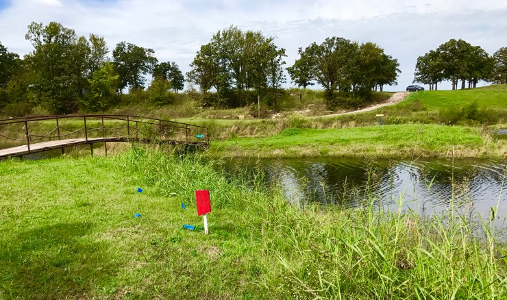 Taylor Ranch disc golf course in Pawhuska, Oklahoma.