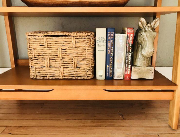 Pawhuska house shelves