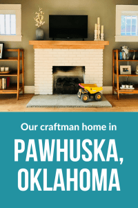 We recently bought 1,500 sq. ft. home in Pawhuska, Oklahoma. Here's a peek inside.