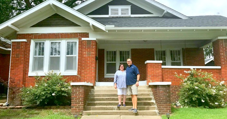 Outside our new house in Pawhuska, Oklahoma.