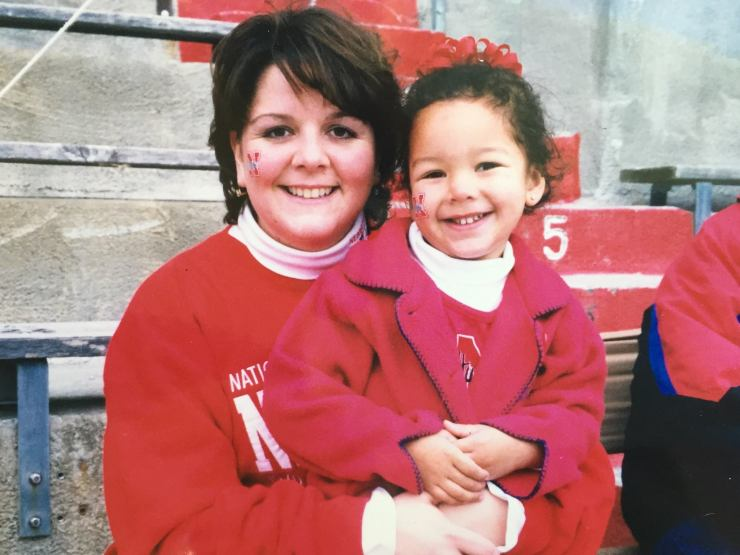 Ann and Meghan have attended a Nebraska Cornhusker football game together every year since Meghan was born.