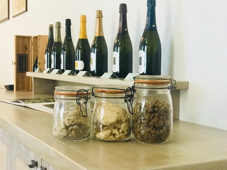 Adami winery display