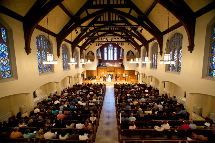 We had a mid-morning wedding at Westminster Presbyterian Church in Lincoln, Nebraska. (Photo by Aaron Babcock)