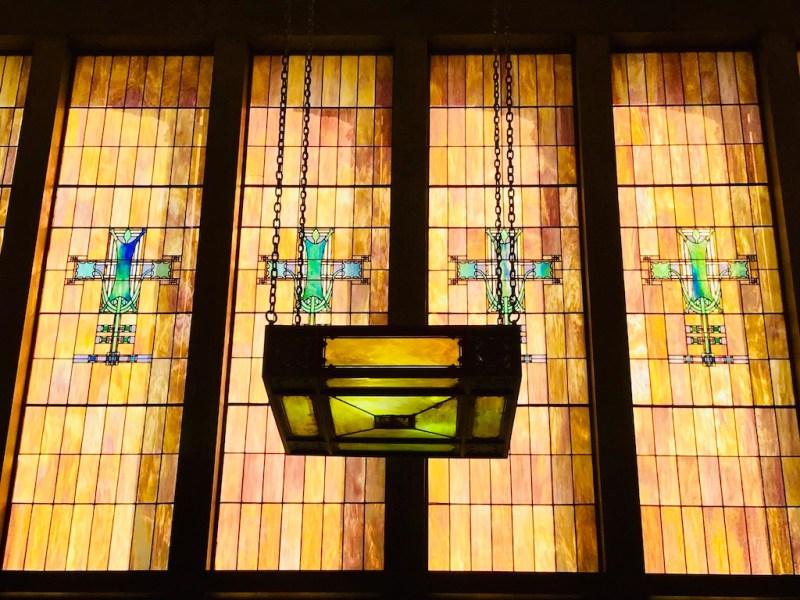 Grinnell Iowa Louis Sullivan jewel box bank window