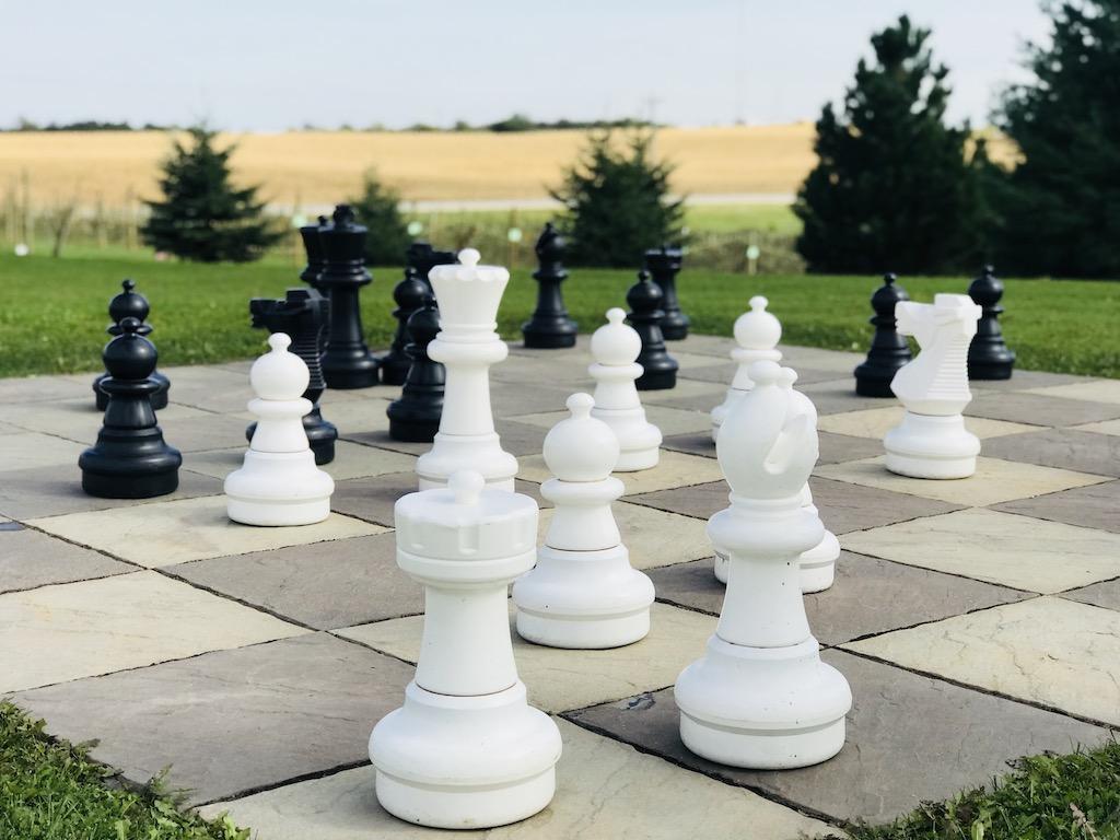 Chess at Pinter's Gardens and Pumpkins, Decorah, Iowa