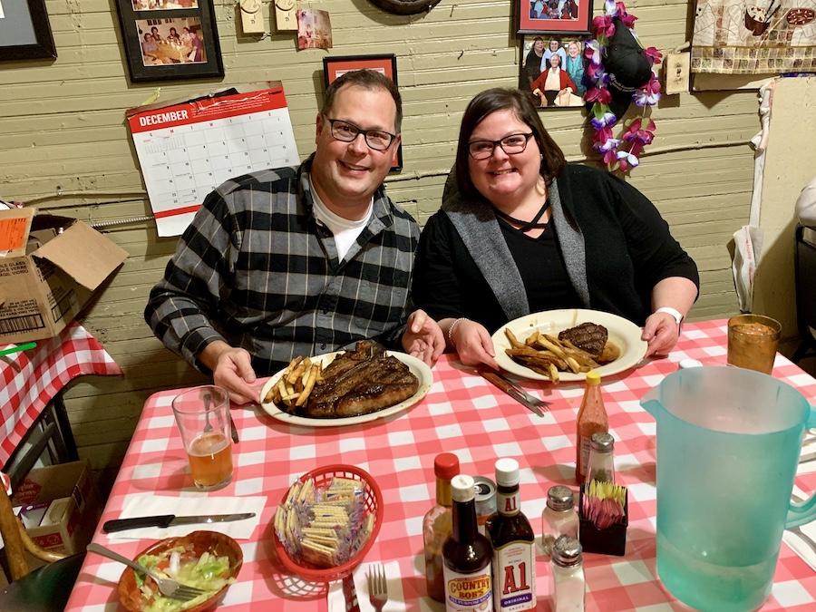 Doe's Eat Place dinner