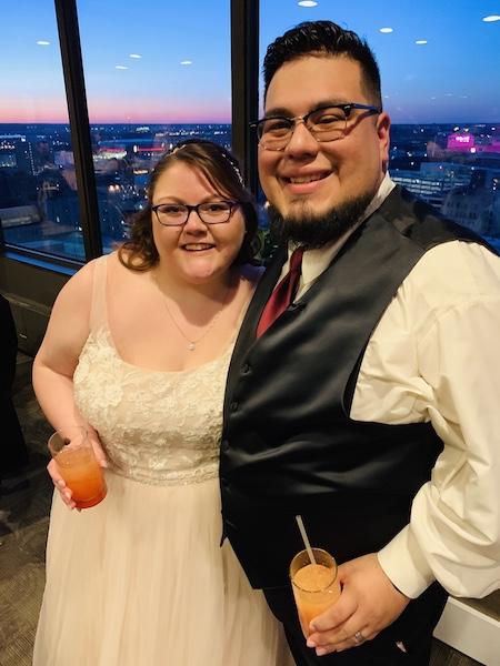 Ann's niece Jordyn and her husband Maury at their wedding.