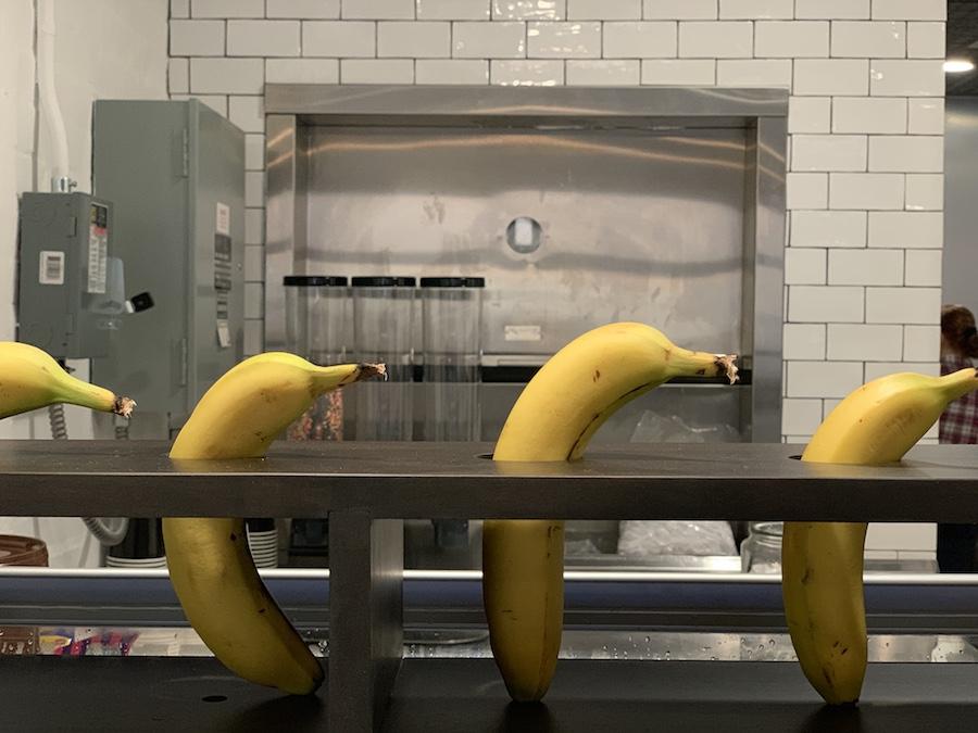 bananas at Ree drummond's ice cream shop