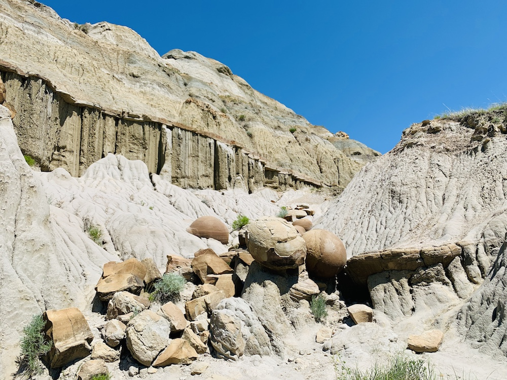 Cannonball rock formations in Theodore Roosevelt National Park