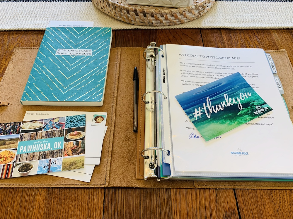 guest book at postcard place