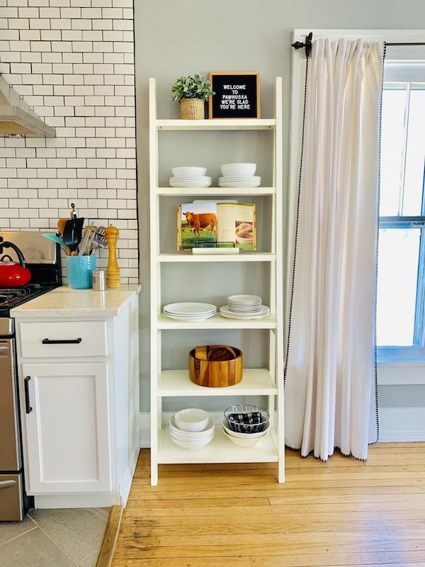 kitchen shelf at postcard place