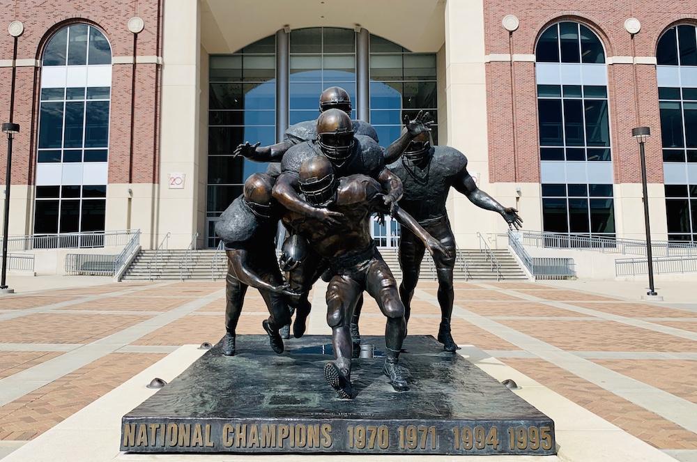 Legacy statue at Memorial Stadium in Lincoln