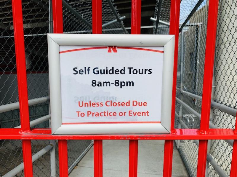 memorial stadium tour in lincoln gate 23a