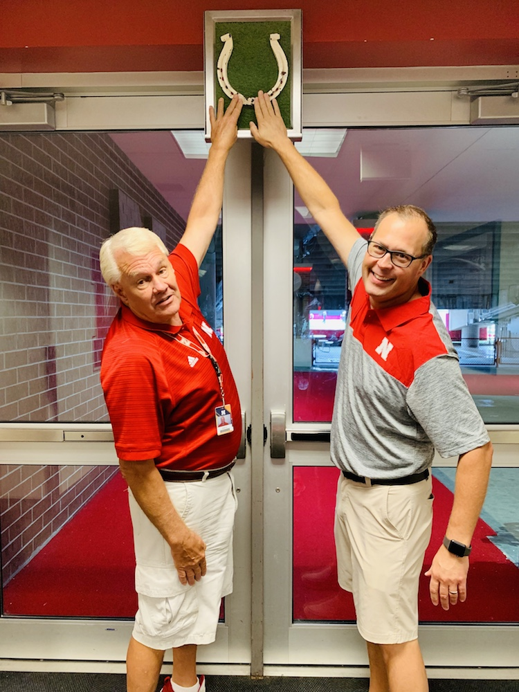 Memorial Stadium tour in Lincoln touch the horseshoe