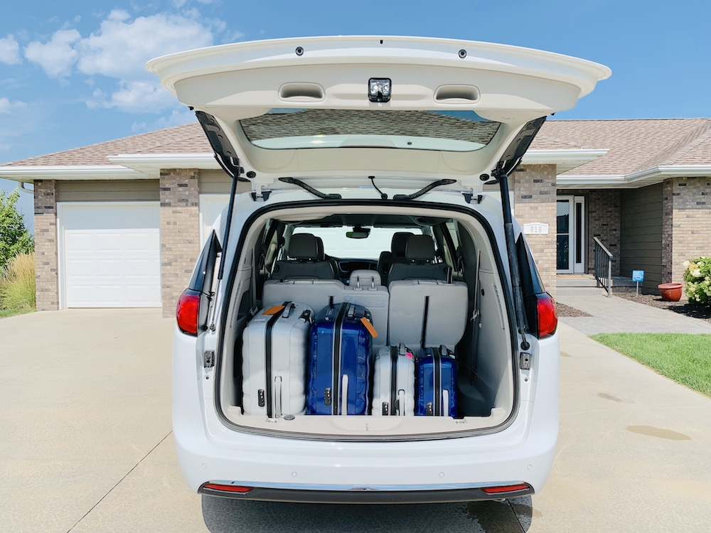 Vehicle for travel luggage space