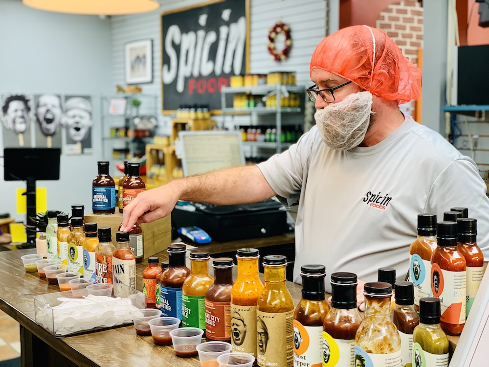 Spicin Foods sauce sampler