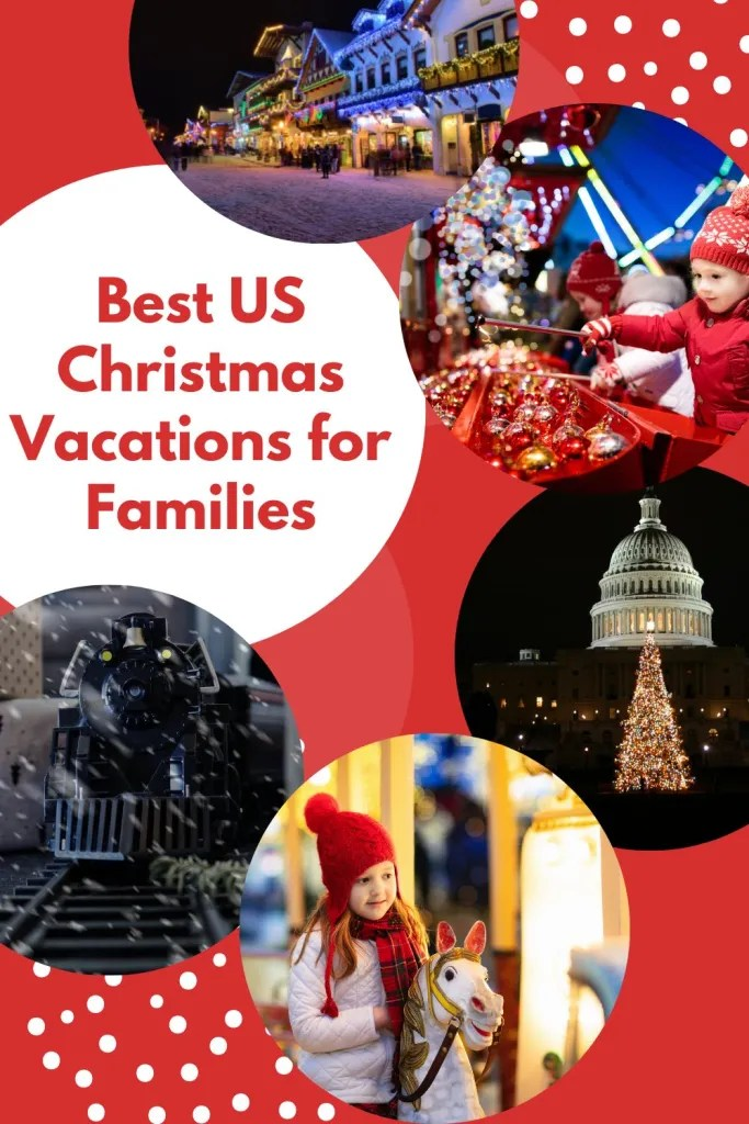 US Family Christmas Vacation Best Places Pin